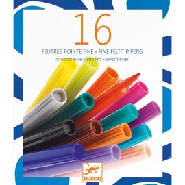 Djeco Kreatív eszközök -16 darabos filctoll - 16 thin markers