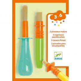 Djeco 3 féle ügyes ecset gyerekeknek - 3 ingenious paintbrushes