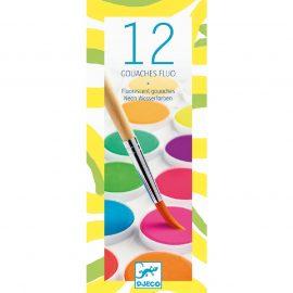 Djeco Korongos gouache festék - 12 szín